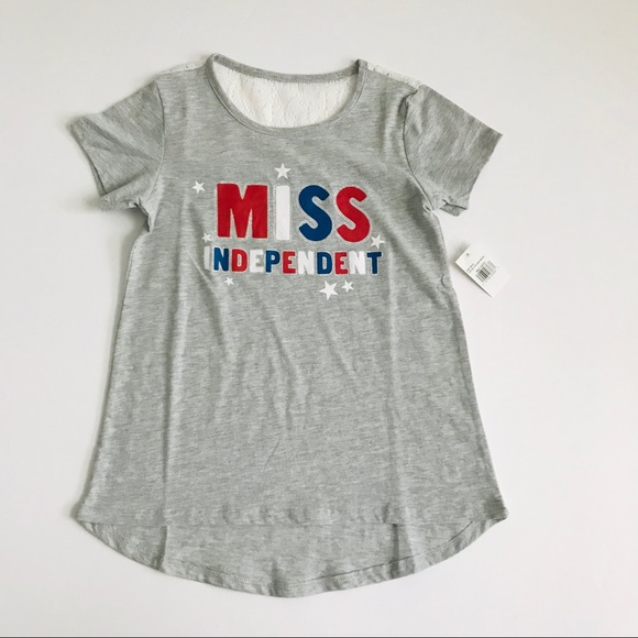 """a971fbed04df Girl s M (10) """"Miss Independent"""" Gray Graphic Tee"""